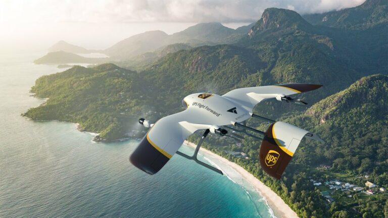 UPS совместно с Wingcopter построит флот грузовых коптеров