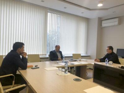 А. Дементьев и С. Кузьминов (РусКабель) на встрече с А. Каукиайненым