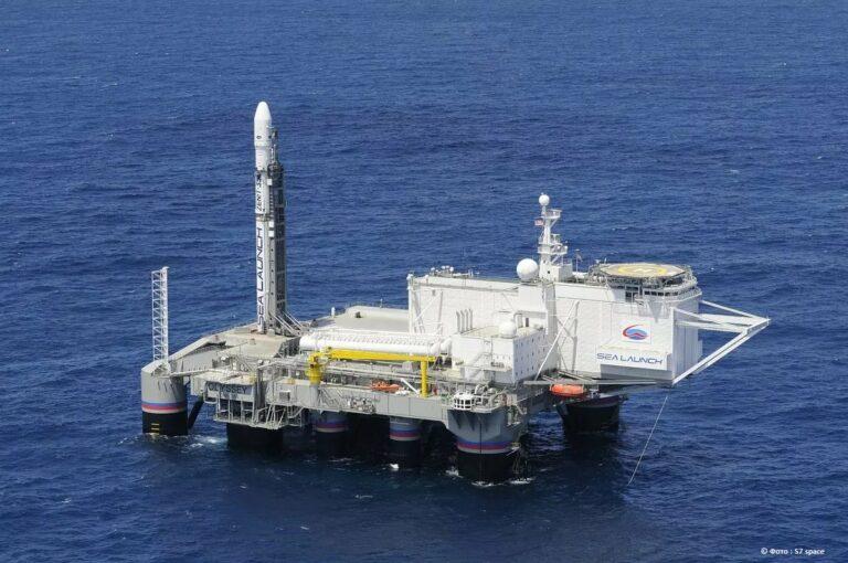 S7 Space перевезла плавучий космодром «Морской старт» из США в Россию