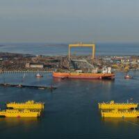 На судоверфи «Звезда» спущен на воду первый российский танкер типа «Афрамакс»