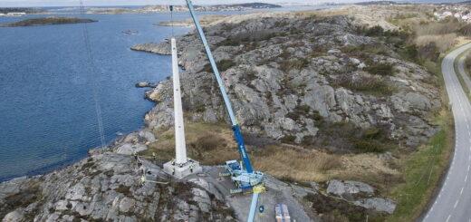 В Швеции впервые установлена деревянная башня для промышленного ветрогенератора