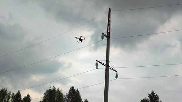 На Кузбассе ЛЭП обследуют с помощью беспилотников