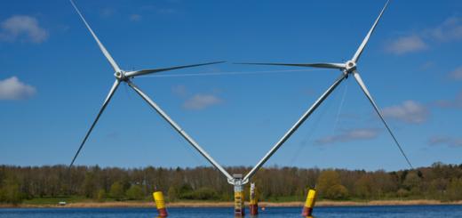 В Германии тестируют плавучий ветрогенератор для глубоких морей