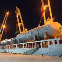 Колонны газоразделения для четвертой линии Амурского ГПЗ направлены морем из Республики Корея в Амурскую область