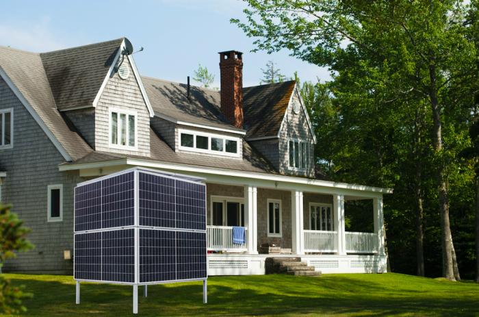 Украинцы создали солнечную электростанцию в виде куба