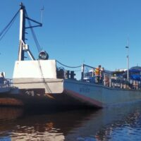 ООО «Газпром МКС» организовало переправу мобильной компрессорной станции через реку Обь