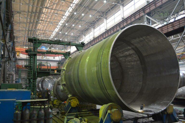 Изготовлен первый полукорпус емкости системы безопасности для Курской АЭС
