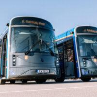В Литве запустили электробусы, изготовленные из пластиковых бутылок
