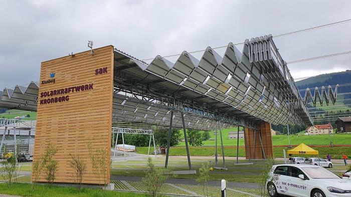 В Швейцарии превратили автопарковку в умную солнечную ферму