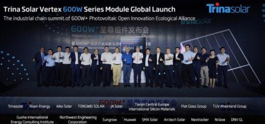 Trina Solar представила новый солнечный модуль мощностью до 600 Вт