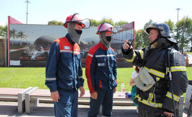 Сочинский филиал «Россети Кубань» принял участие в пожарно-тактических учениях в рамках подготовки к Гран-при России Формулы 1