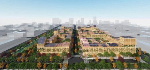 В Китае построят «самодостаточный город» с солнечными панелями и теплицами на крышах