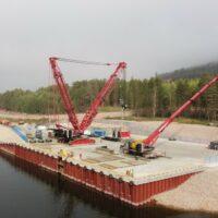 Иркутская нефтяная компания построила причал для приема оборудования завода полимеров