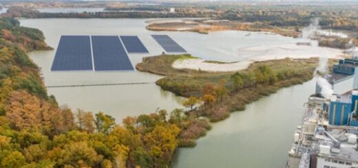 В Бельгии установили первую плавучую солнечную электростанцию