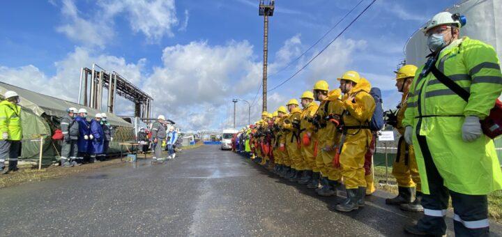 В России провели учении по ликвидации последствий ЧС, связанных с разливом нефти и нефтепродуктов