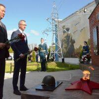 В Калуге открыли мемориал фронтовикам-энергетикам Калужской области