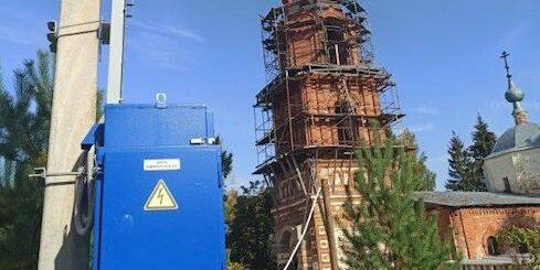 В церкви XVIII в. энергетики «Россети Московский регион» впервые зажгли свет
