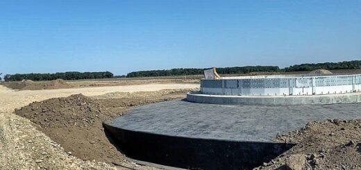 В Ставропольском крае завершены работы по устройству всех 24 фундаментов ветроэнергетических установок Кармалиновской ВЭС