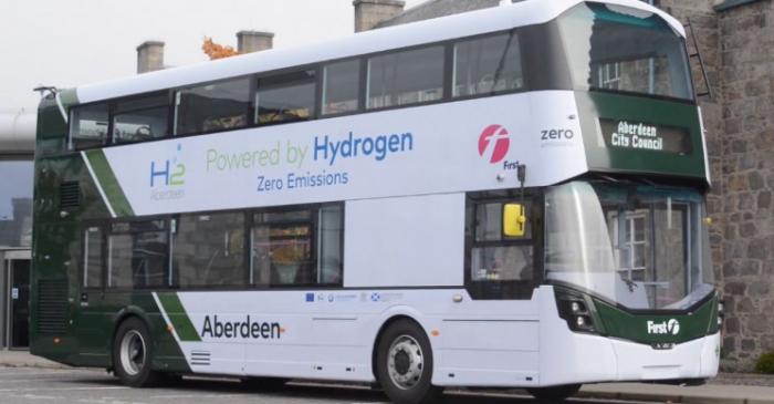 В Шотландии представили первые в мире двухэтажные автобусы, работающие только на водороде