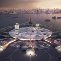 В Японии представили футуристичный проект плавучего космопорта для космического туризма