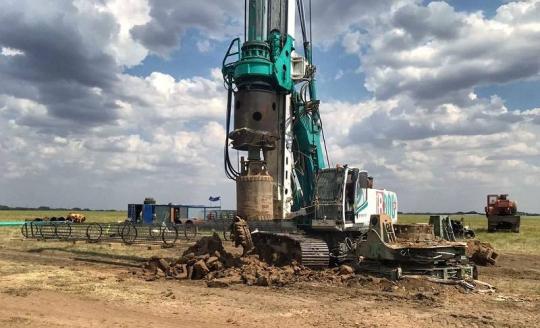 Завершено устройство фундаментов ветроэнергетических установок на «Марченковской ВЭС»
