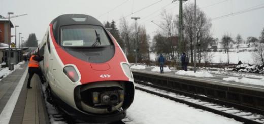 Электропоезд Цюрих-Мюнхен в дебютном рейсе заехал на неэлектрифицированный путь