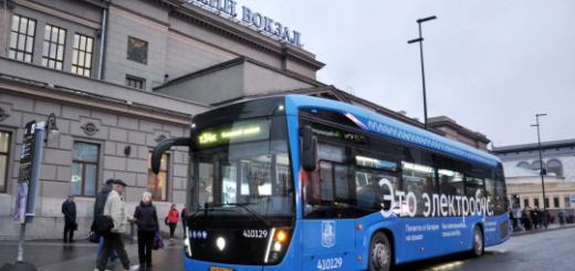 Более 2 тыс. электробусов будут ездить в Москве к 2023 году