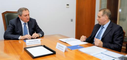 Николай Шульгинов и Генеральный секретарь ФСЭГ Юрий Сентюрин обсудили перспективы развития газовой отрасли