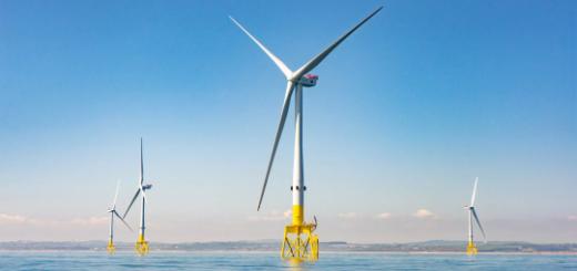 В Великобритании установят 250-метровые ветрогенераторы по 14 МВт