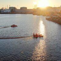 В Большом порту Санкт-Петербурга состоялись учения по ликвидации нефтеразлива
