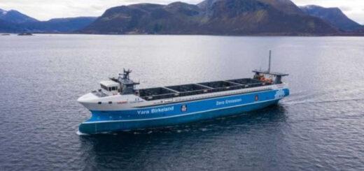 Создан первый в мире автономный контейнеровоз с нулевым выбросом