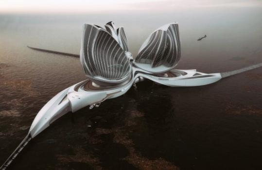 Футуристическая плавучая станция очистит океан от пластика