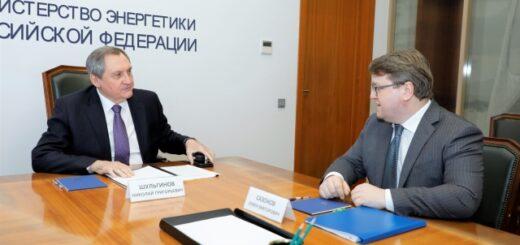 Николай Шульгинов провёл рабочую встречу с генеральным директором ПАО «Квадра» Семёном Сазоновым