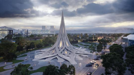 Архитекторы представили проект 60-метровой башни, улавливающей воду