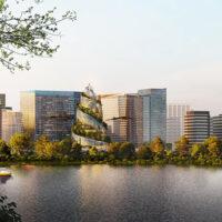 Новая штаб-квартира Amazon — биофильная башня-спираль с пешеходной тропой