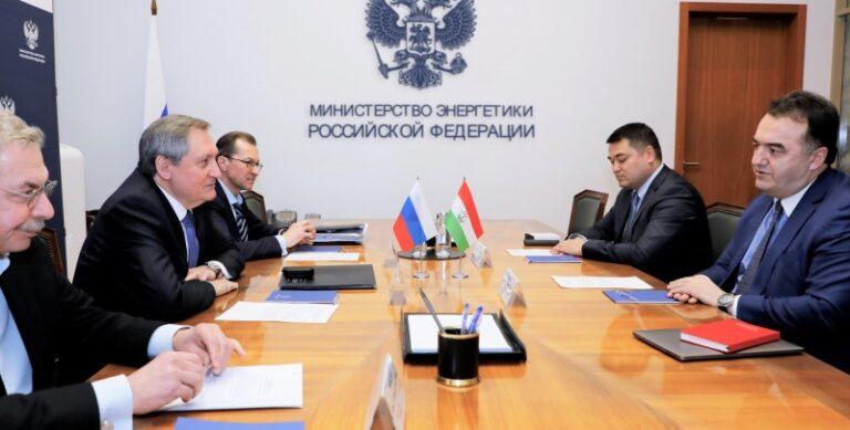 Николай Шульгинов провёл встречу с Министром энергетики и водных ресурсов Республики Таджикистан Далером Джума