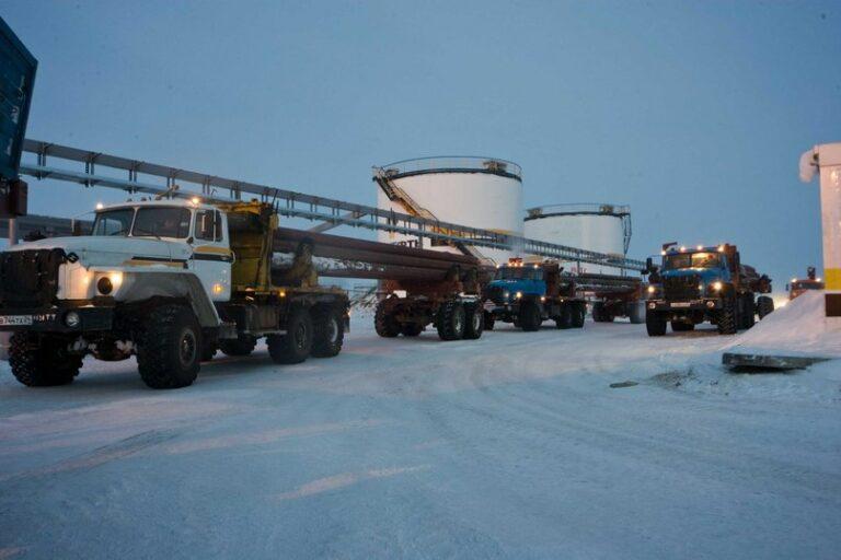 «РН-Ванкор» доставит по зимникам около 300 тыс. тонн грузов на месторождения Ванкорского кластера