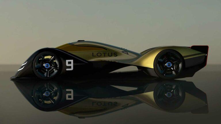 Представлен концепт гоночного электрокара Lotus E-R9, который будет участвовать в гонках на выносливость «24 часа Ле-Мана»