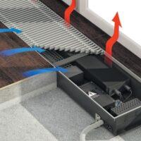 В чем плюсы и минусы внутрипольных конвекторов отопления?
