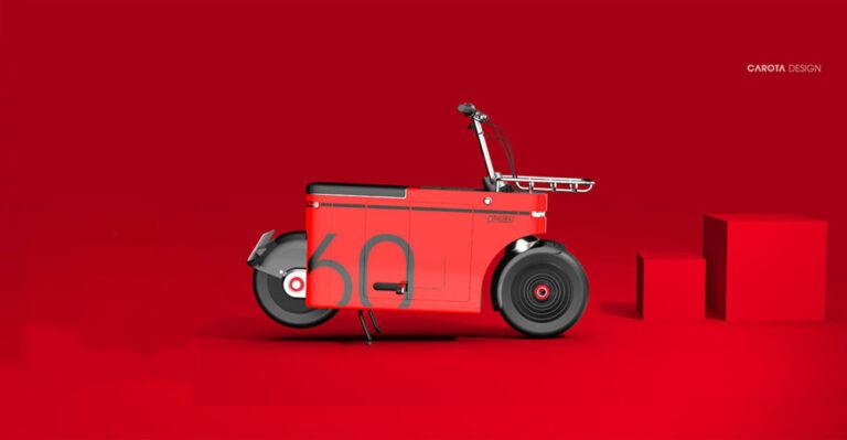 E-motocompo — электромопед с необычным дизайном
