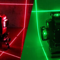 Красный и зеленый лазер нивелира