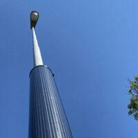 Новая конструкция фонарного столба на фотоэлементах